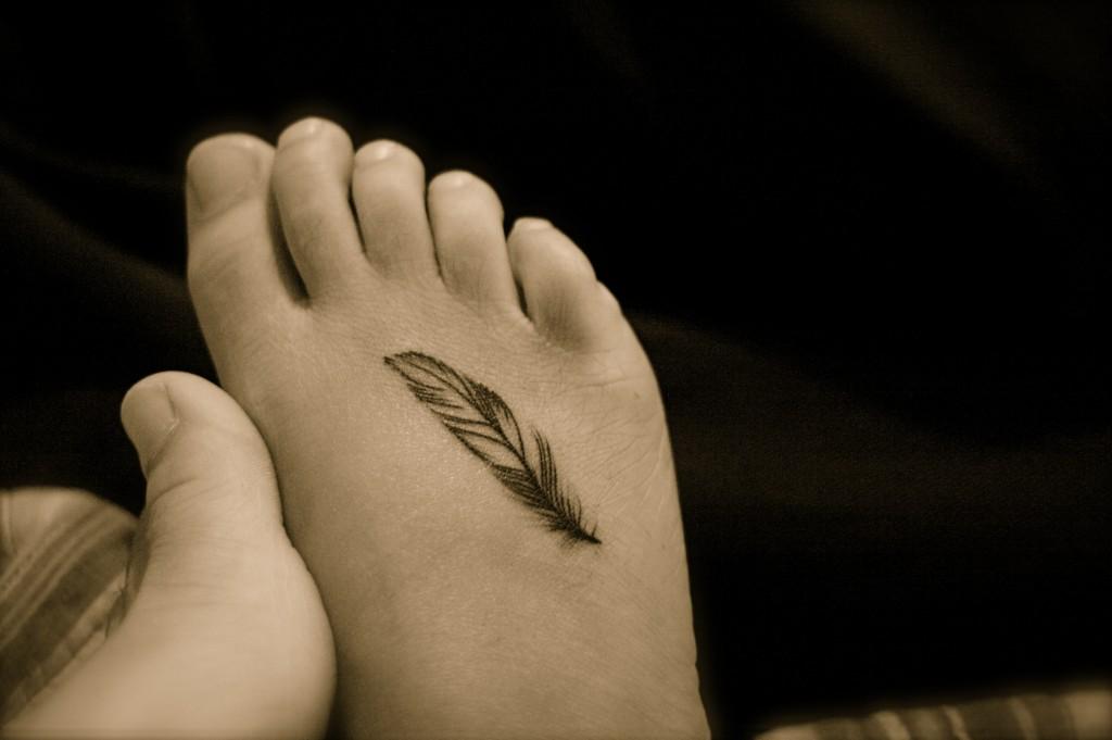 Tatuiruotes ant kojos pavyzdziai